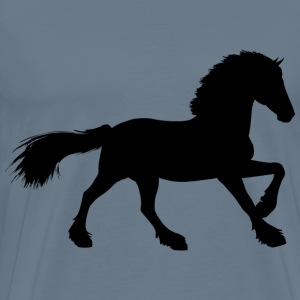 Majestic Stallion Silhouette Variation 2 - Men's Premium T-Shirt