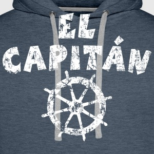 El Capitán Wheel Vintage/White  Men's Long Sleeve - Men's Premium Hoodie