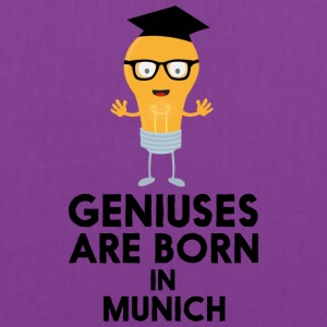 Geniuses are born in MUNICH S3fwg Bags & backpacks - Tote Bag