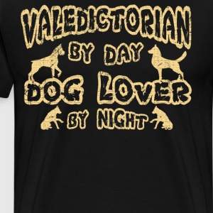 Valedictorian by Day Dog Lover By Night Graduation T-Shirts - Men's Premium T-Shirt