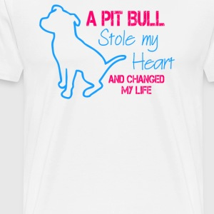 A Pitbull Stole My Heart - Men's Premium T-Shirt