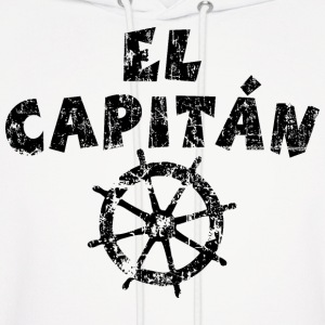 El Capitán Wheel Vintage/Black Hoodies - Men's Hoodie