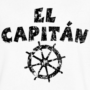 El Capitán Wheel Vintage/Black T-Shirts - Men's V-Neck T-Shirt by Canvas