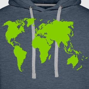 Earth Men's Long Sleeve - Men's Premium Hoodie
