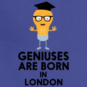 Geniuses are born in LONDON Sq077 Aprons - Adjustable Apron