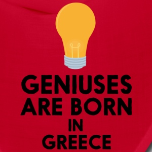 Geniuses are born in GREECE S8f9y Caps - Bandana