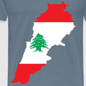 Lebanon Map Flag - Men's Premium T-Shirt