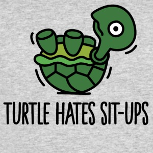 Turtle hates sit-ups T-Shirts - Men's 50/50 T-Shirt