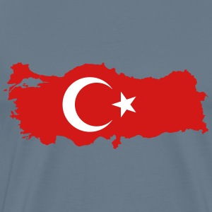 Turkey Map Flag - Men's Premium T-Shirt