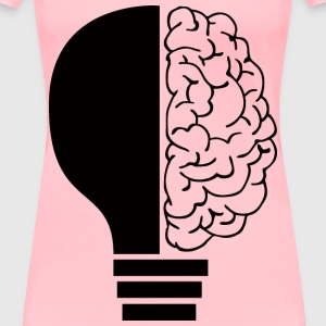 Brain Light Bulb By Elisa Riva - Women's Premium T-Shirt