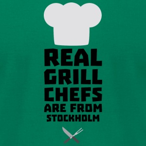 Real Grill Chefs are from Stockholm S6kq5 T-Shirts - Men's T-Shirt by American Apparel