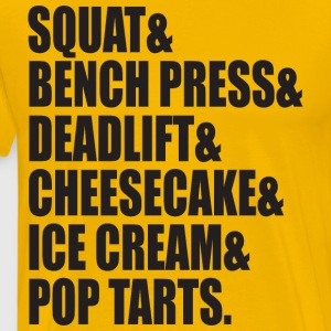Squat, Bench, Deadlift, Ice Cream, Cheesecake T-Shirts - Men's Premium T-Shirt