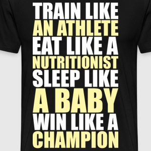 Train Like An Athlete T-Shirts - Men's Premium T-Shirt
