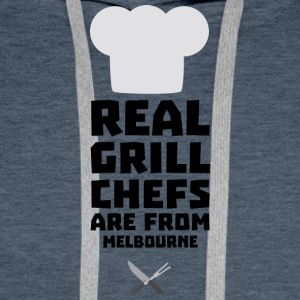 Real Grill Chefs are from Melbourne Swc41 Men's Long Sleeve - Men's Premium Hoodie