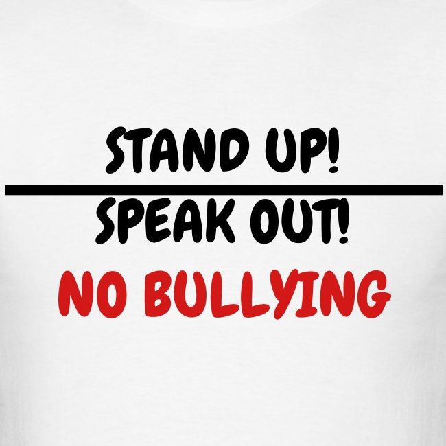 hype tees stand up speak out no bullying mens t shirt