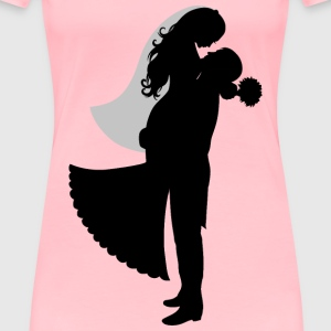 Bride And Groom Silhouette - Women's Premium T-Shirt