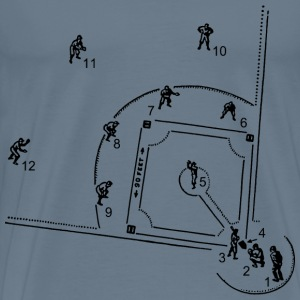 Baseball Diagram - Men's Premium T-Shirt