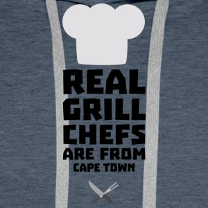 Real Grill Chefs are from Cape Town Sp68p Men's Long Sleeve - Men's Premium Hoodie