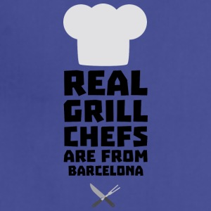Real Grill Chefs are from Barcelona S9ar0 Aprons - Adjustable Apron
