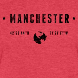 Manchester T-Shirts - Fitted Cotton/Poly T-Shirt by Next Level