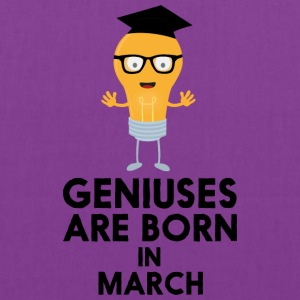 Geniuses are born in MARCH Sv461 Bags & backpacks - Tote Bag