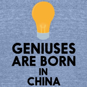 Geniuses are born in CHINA Sbcv5 T-Shirts - Unisex Tri-Blend T-Shirt by American Apparel