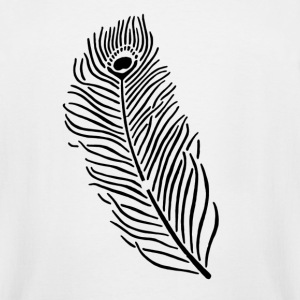 Peacock Feather - Men's Tall T-Shirt