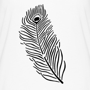 Peacock Feather - Women's Flowy T-Shirt