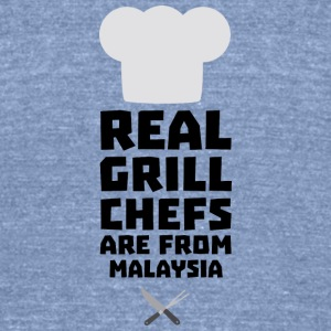 Real Grill Chefs are from Malaysia S8q2q T-Shirts - Unisex Tri-Blend T-Shirt by American Apparel