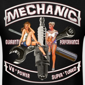 Mechanic spark pinups T-Shirts - Men's T-Shirt