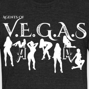 Sexy Agents Of VEGAS Mens American Apparel T-Shirt - Unisex Tri-Blend T-Shirt by American Apparel
