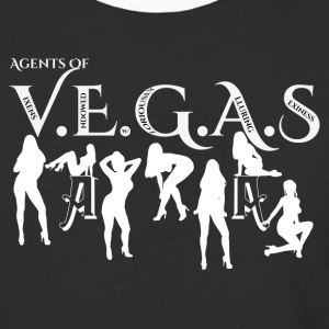 Sexy Agents Of VEGAS Mens Baseball T-Shirt - Baseball T-Shirt