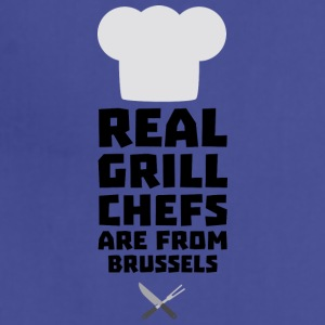 Real Grill Chefs are from Brussels Sxq73 Aprons - Adjustable Apron