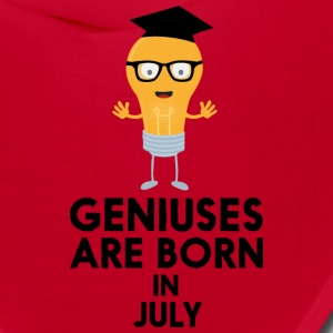 Geniuses are born in JULY Sai0a Caps - Bandana