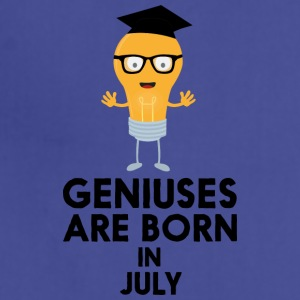 Geniuses are born in JULY Sai0a Aprons - Adjustable Apron