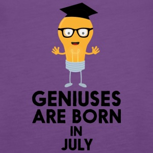 Geniuses are born in JULY Sai0a Tanks - Women's Premium Tank Top