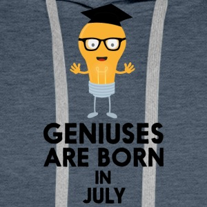 Geniuses are born in JULY Sai0a Men's Long Sleeve - Men's Premium Hoodie