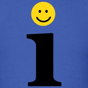 Smiley Letter i - Men's T-Shirt