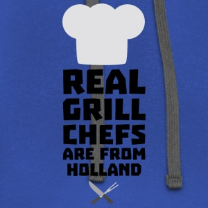 Real Grill Chefs are from Holland S3q61 Hoodies - Contrast Hoodie