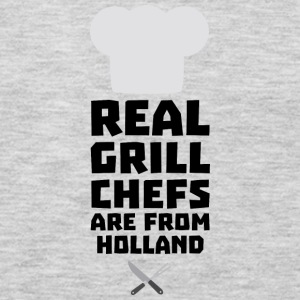 Real Grill Chefs are from Holland S3q61 Long Sleeve Shirts - Men's Premium Long Sleeve T-Shirt