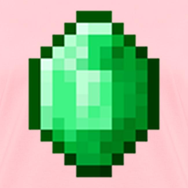 Minecraft: Green Emerald Gem Diamond - Creeper Creative Survival Hungry  Cool Diamond Sword Pick Axe Food Mining Design Fun Nerd Geek Gaming Party  Swag