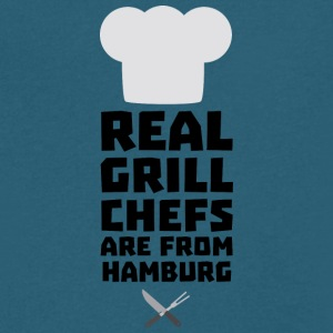 Real Grill Chefs are from Hamburg S4u7m T-Shirts - Men's V-Neck T-Shirt by Canvas