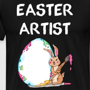 Easter Artist Bunny Egg Holiday Paint Brush Shirt T-Shirts - Men's Premium T-Shirt
