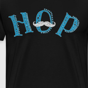 HOP Men's Easter Celebration Holiday Mustache  T-Shirts - Men's Premium T-Shirt