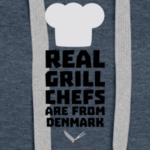 Real Grill Chefs are from Denmark Sxyp3 Hoodies - Women's Premium Hoodie
