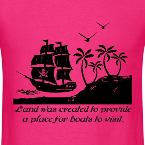 Land was created for boat