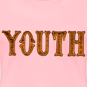 Noble characteristic typography youth - Women's Premium T-Shirt