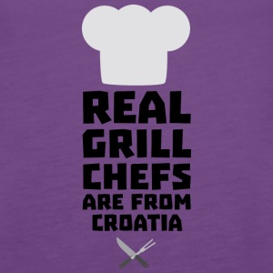 Real Grill Chefs are from Croatia St141 Tanks - Women's Premium Tank Top