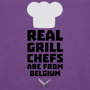 Real Grill Chefs are from Belgium S7677 Tanks - Women's Premium Tank Top