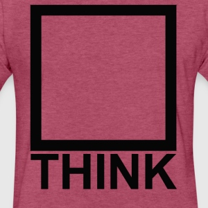 Think_black T-Shirts - Fitted Cotton/Poly T-Shirt by Next Level
